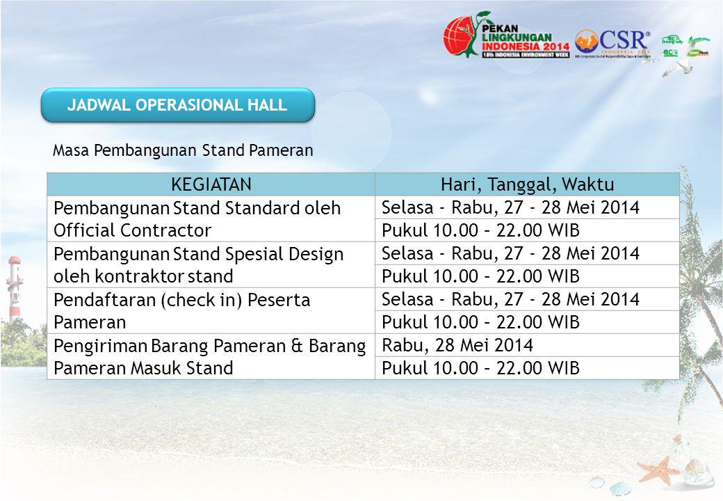 JADWAL OPERASIONAL HALL