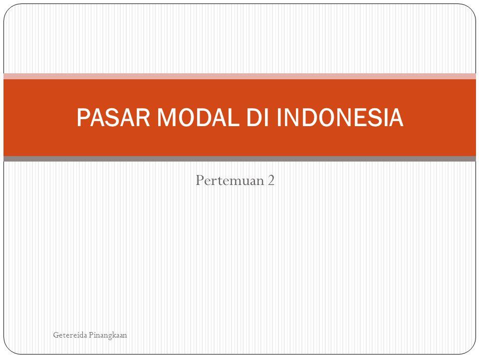 PASAR MODAL DI INDONESIA