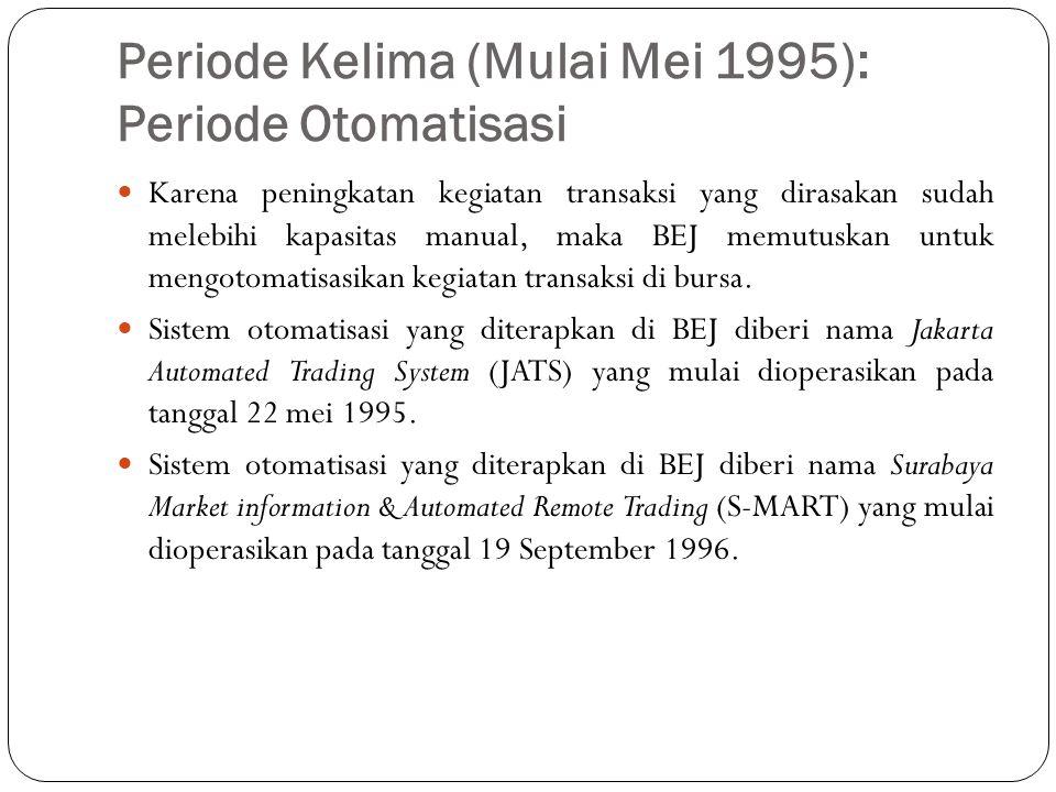 Periode Kelima (Mulai Mei 1995): Periode Otomatisasi