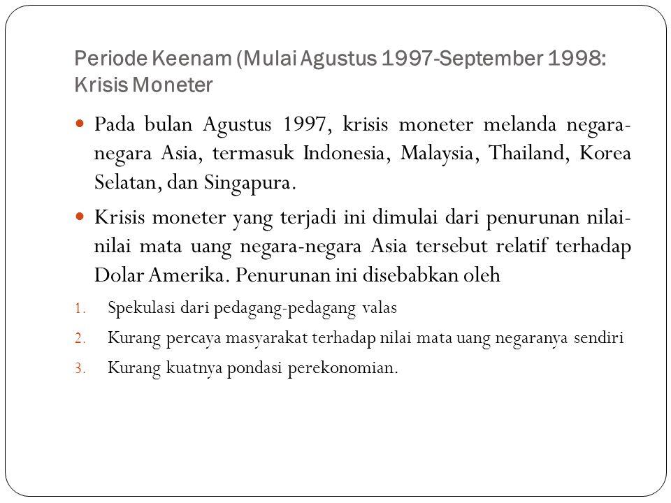 Periode Keenam (Mulai Agustus 1997-September 1998: Krisis Moneter