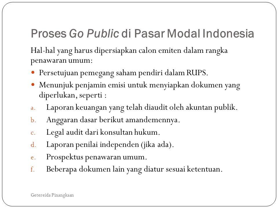 Proses Go Public di Pasar Modal Indonesia