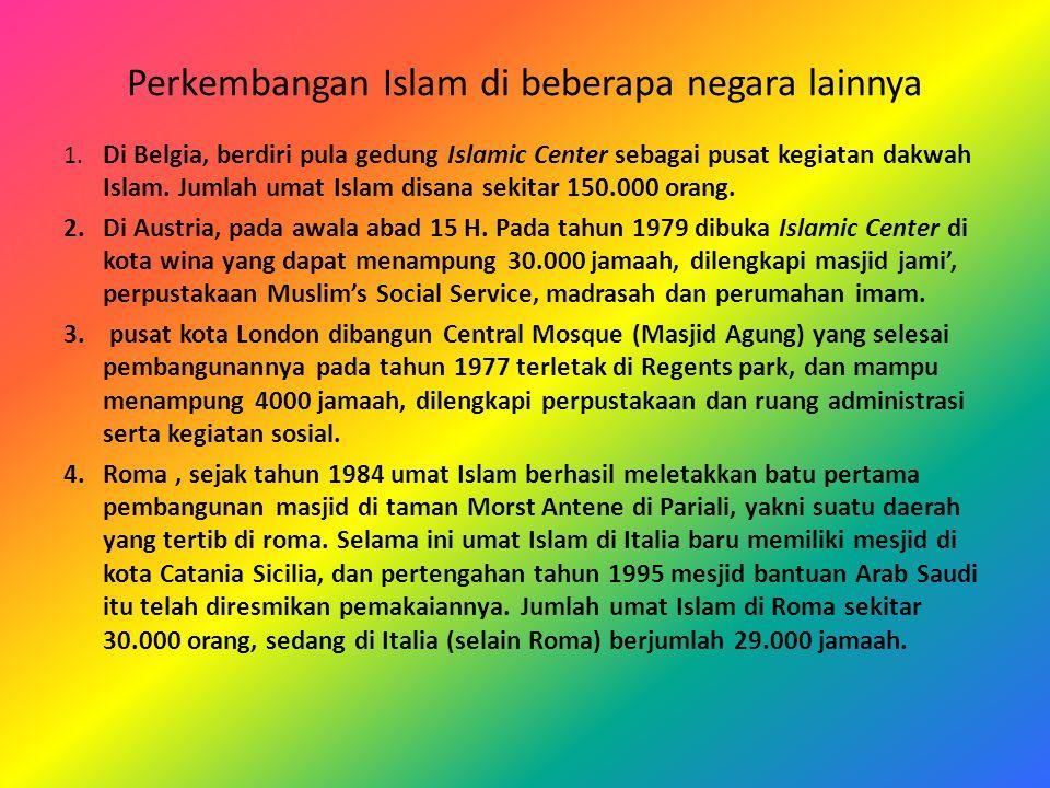 Perkembangan Islam di beberapa negara lainnya