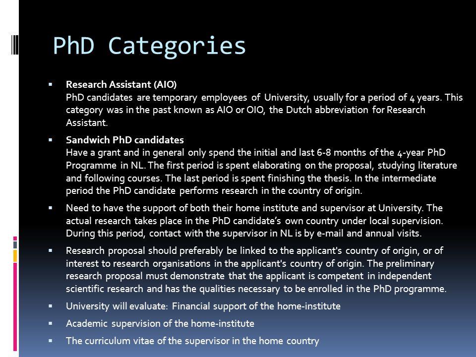 PhD Categories