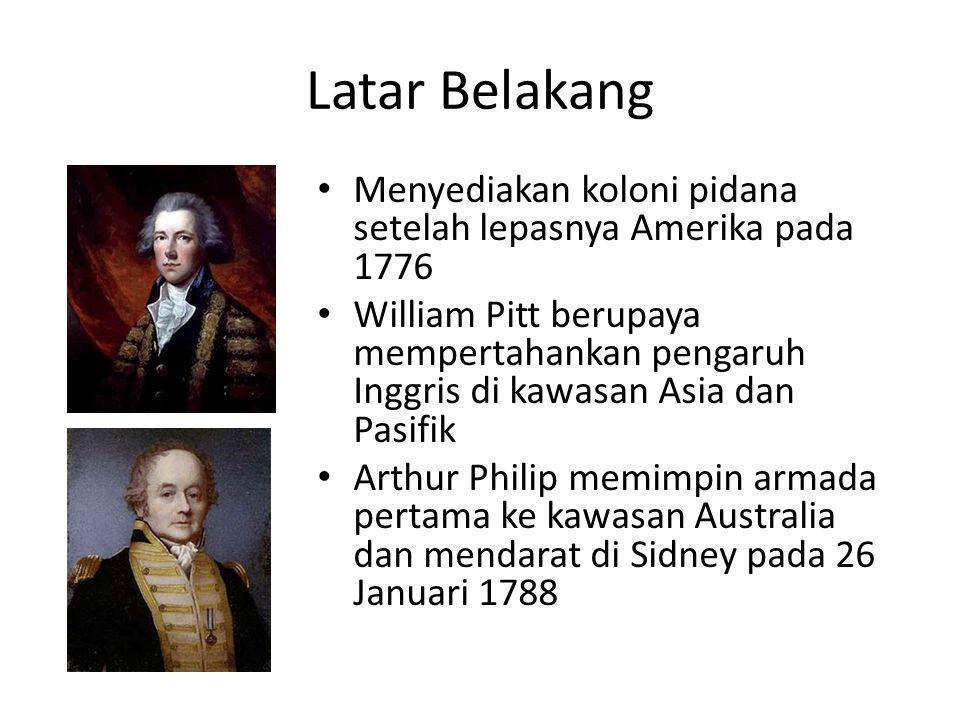 Latar Belakang Menyediakan koloni pidana setelah lepasnya Amerika pada 1776.