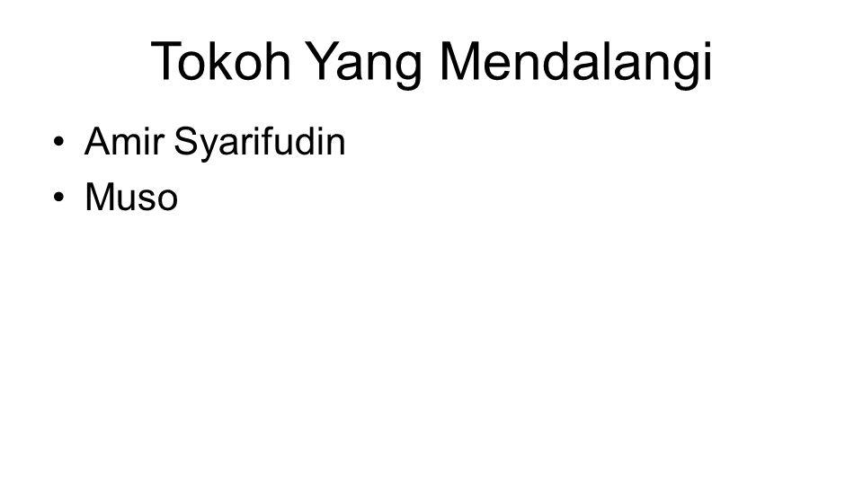Tokoh Yang Mendalangi Amir Syarifudin Muso