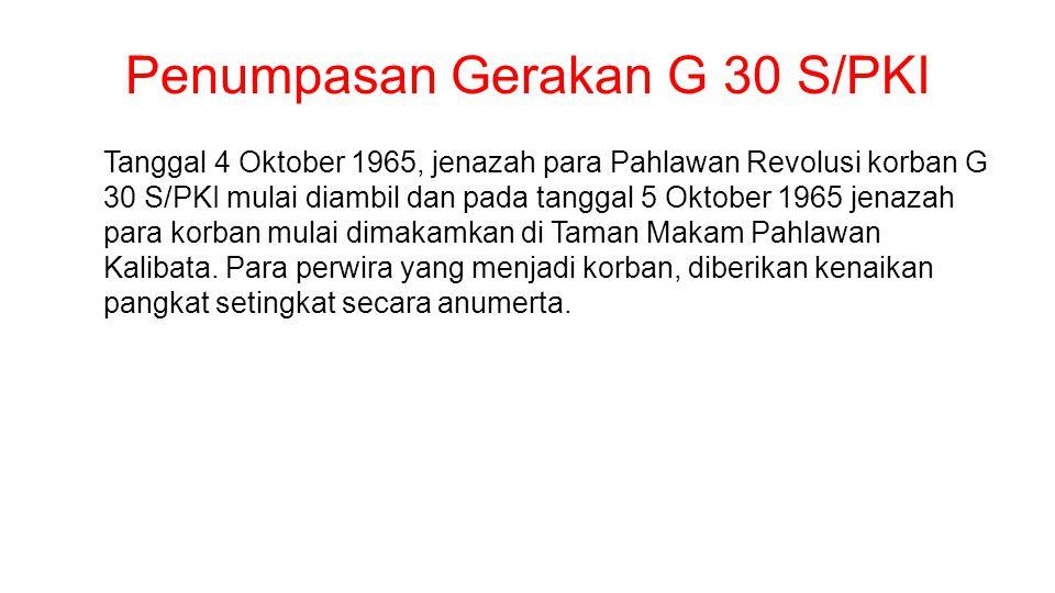 Penumpasan Gerakan G 30 S/PKI