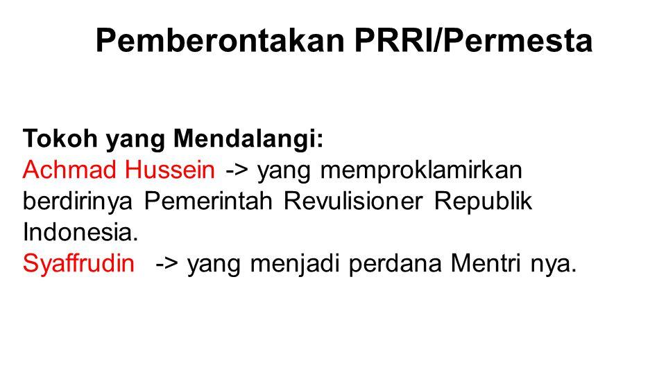 Pemberontakan PRRI/Permesta