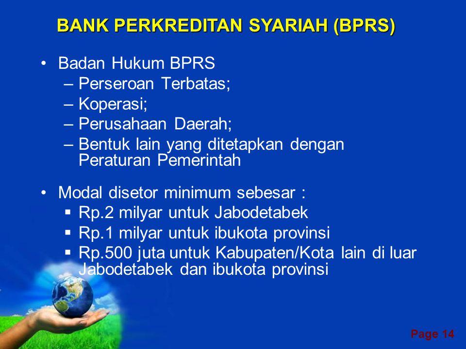 BANK PERKREDITAN SYARIAH (BPRS)
