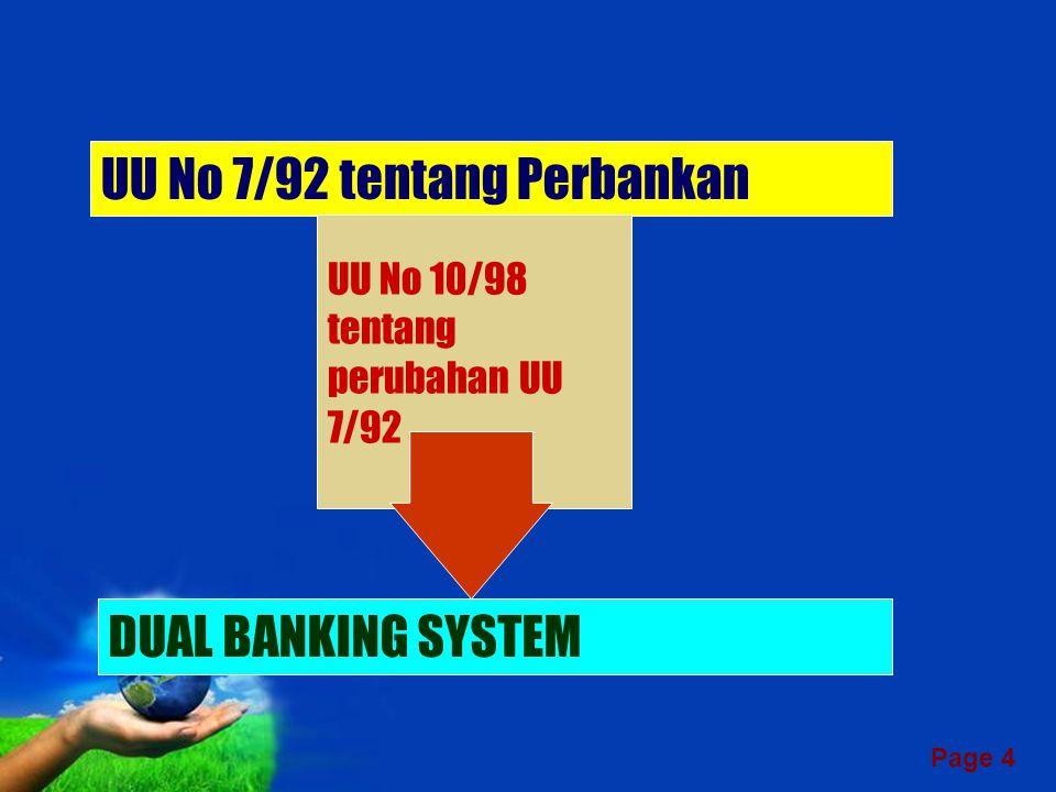 UU No 7/92 tentang Perbankan