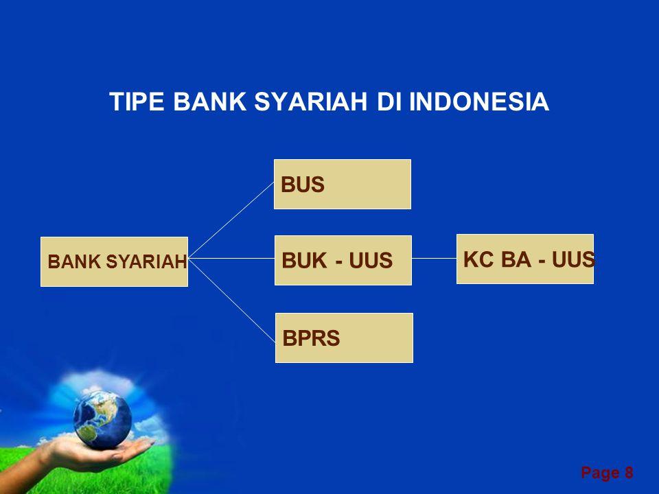 TIPE BANK SYARIAH DI INDONESIA