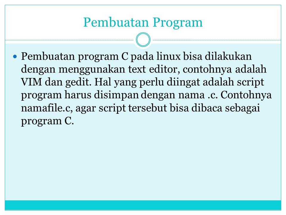 Pembuatan Program