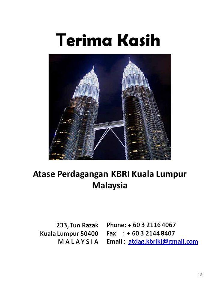 Atase Perdagangan KBRI Kuala Lumpur