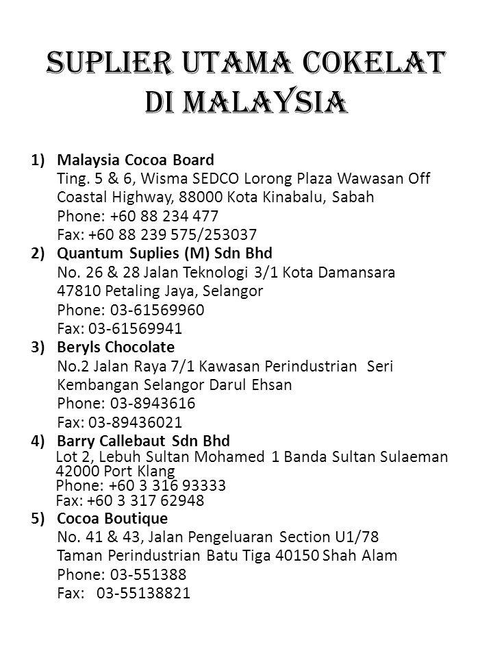 SUPLIER UTAMA COKELAT DI MALAYSIA