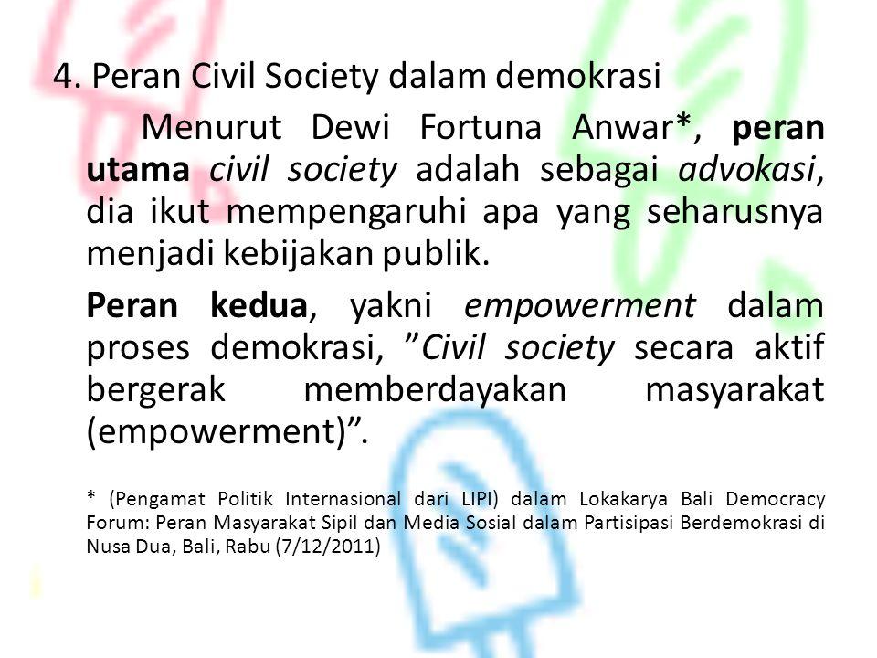 4. Peran Civil Society dalam demokrasi