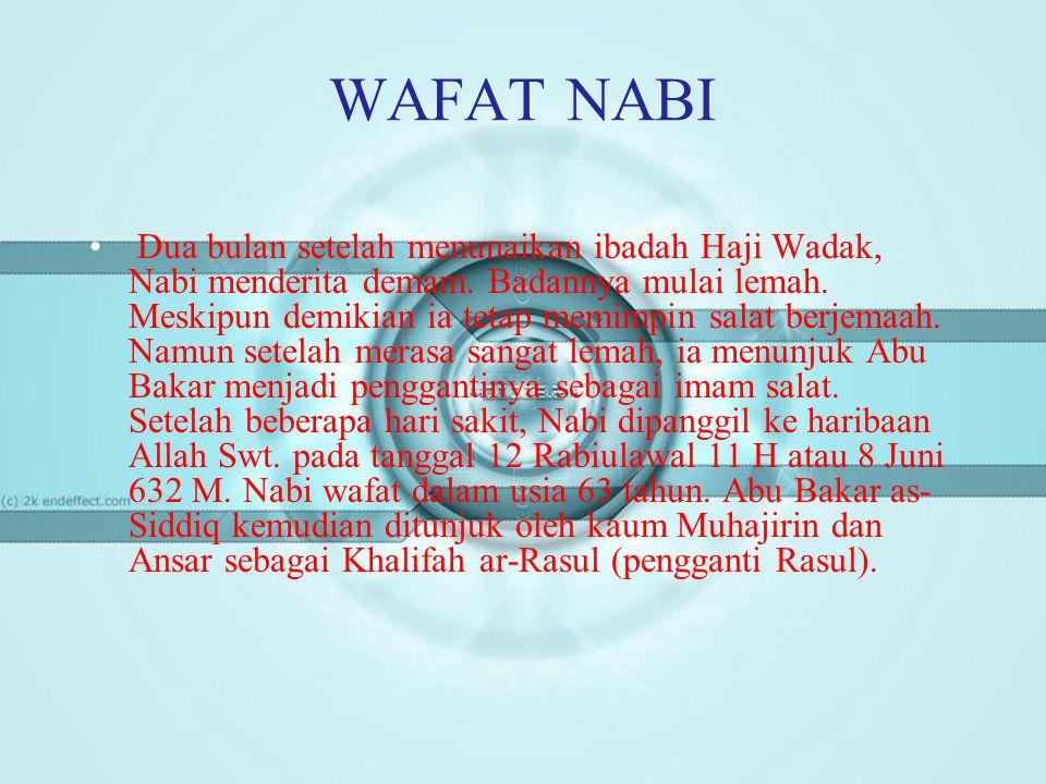 WAFAT NABI