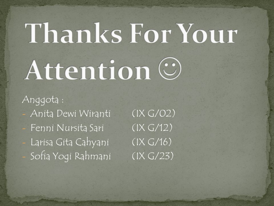 Thanks For Your Attention 
