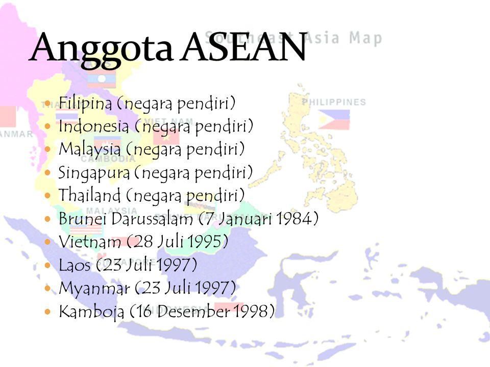 Anggota ASEAN Filipina (negara pendiri) Indonesia (negara pendiri)