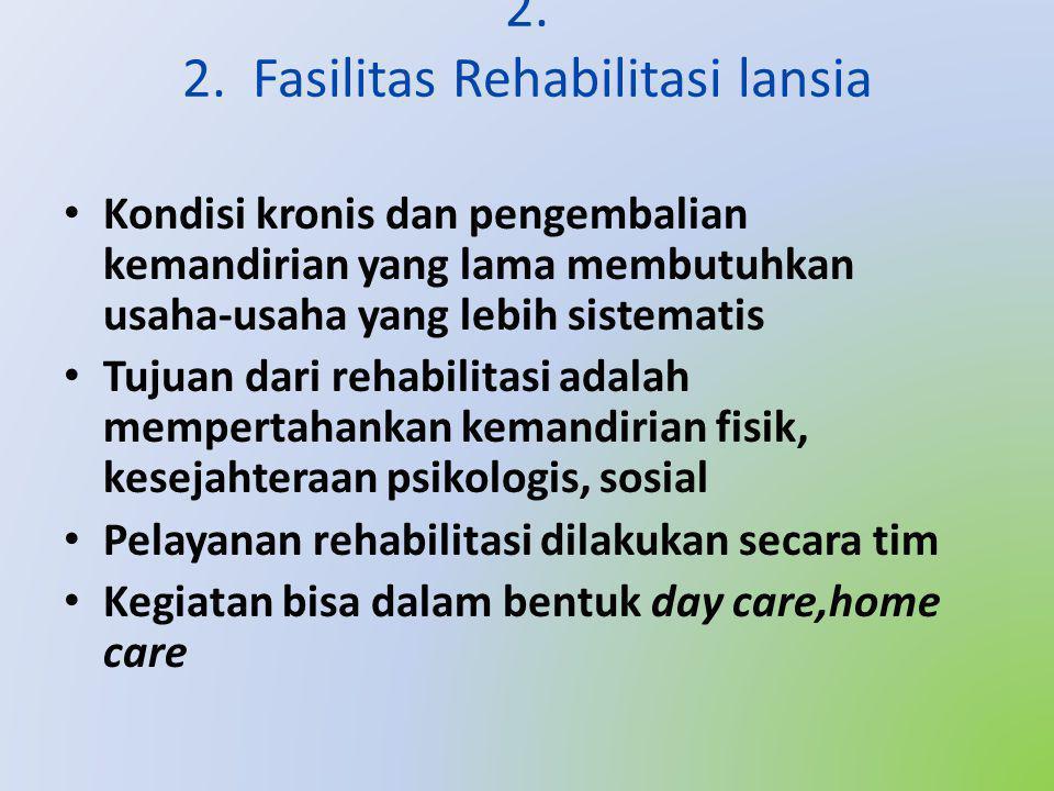 2. 2. Fasilitas Rehabilitasi lansia