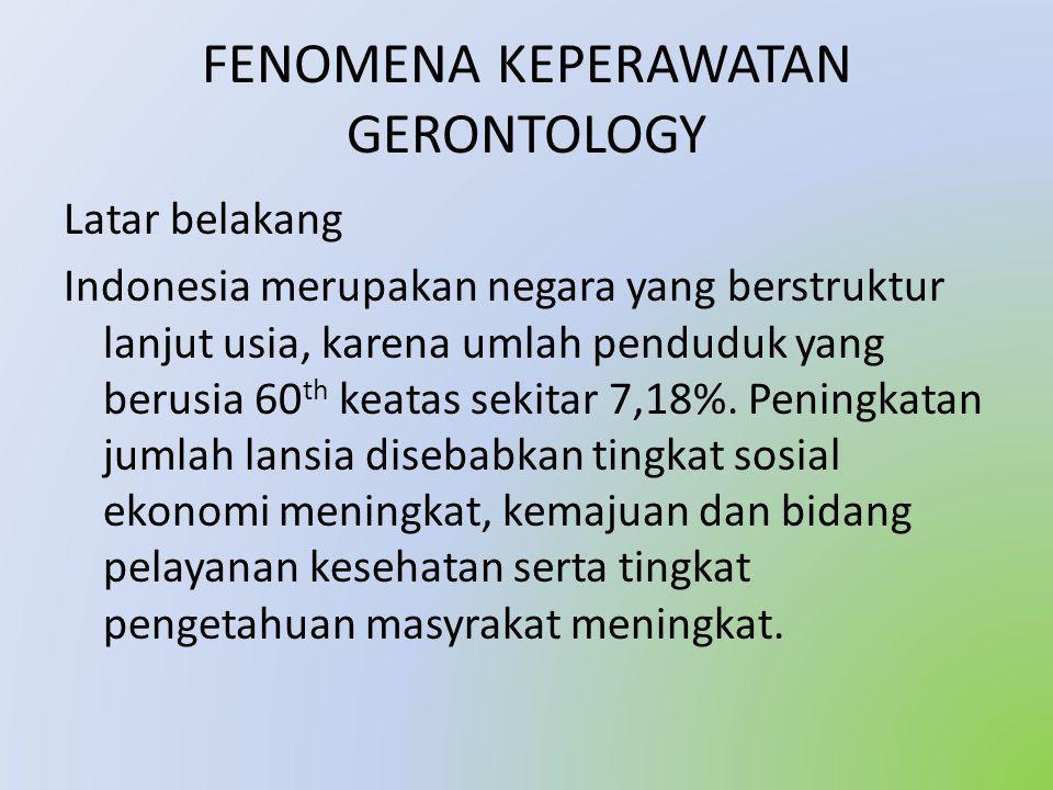 FENOMENA KEPERAWATAN GERONTOLOGY