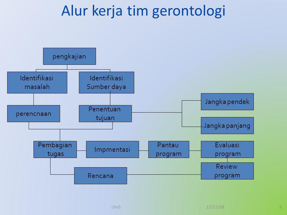 Alur kerja tim gerontologi