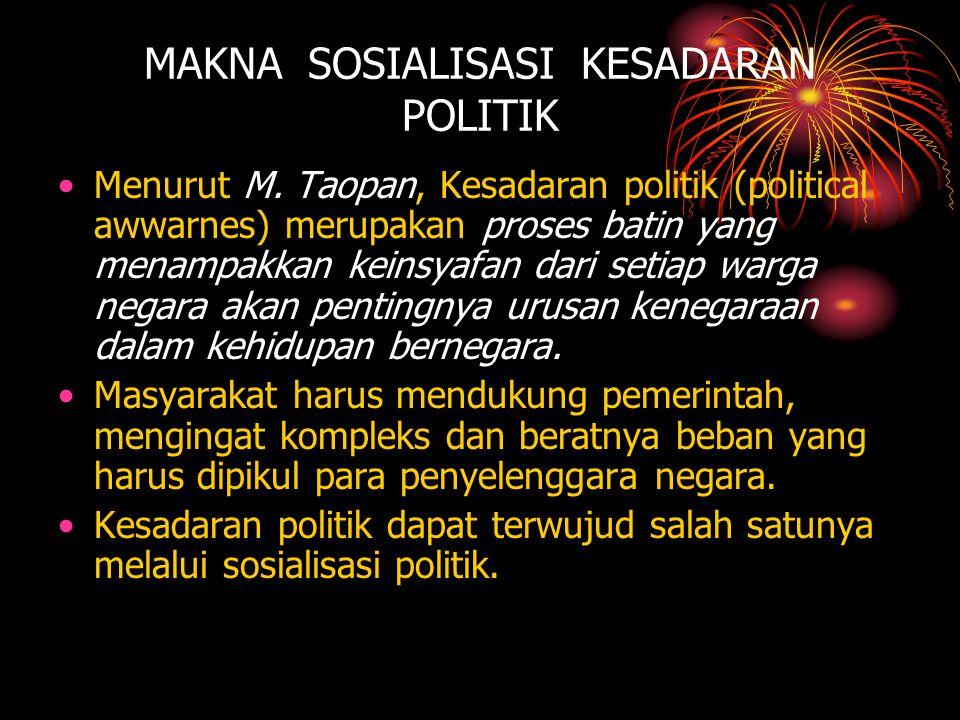 MAKNA SOSIALISASI KESADARAN POLITIK