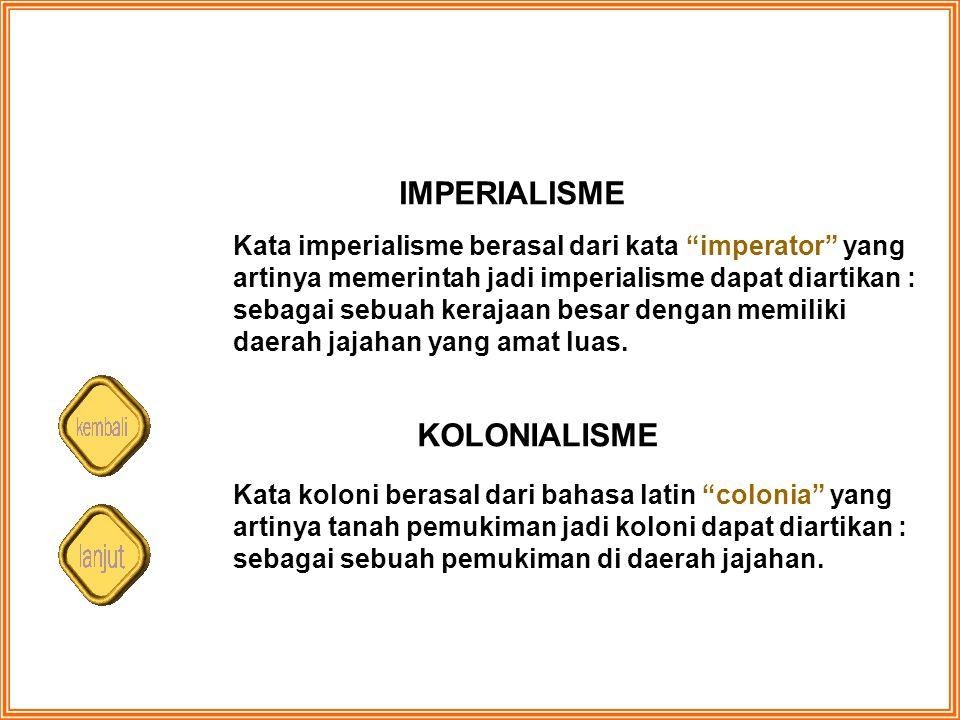 IMPERIALISME KOLONIALISME