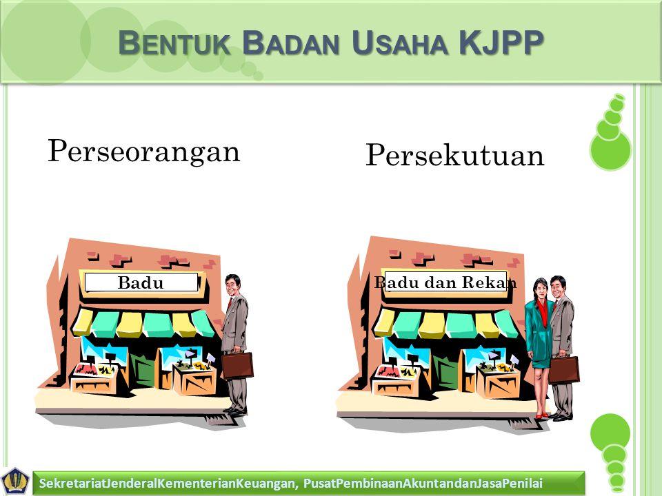 Bentuk Badan Usaha KJPP