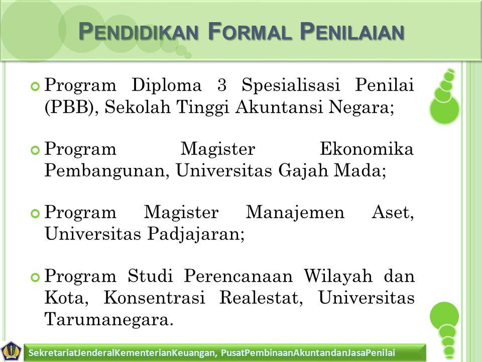 Pendidikan Formal Penilaian