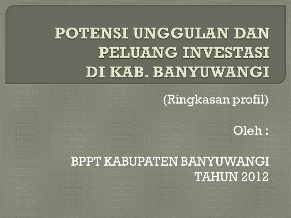 POTENSI UNGGULAN DAN PELUANG INVESTASI DI KAB. BANYUWANGI