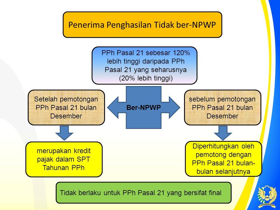 Penerima Penghasilan Tidak ber-NPWP
