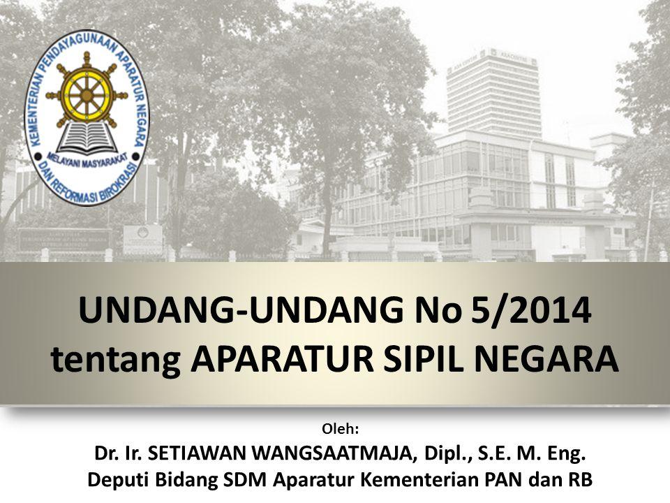 UNDANG-UNDANG No 5/2014 tentang APARATUR SIPIL NEGARA