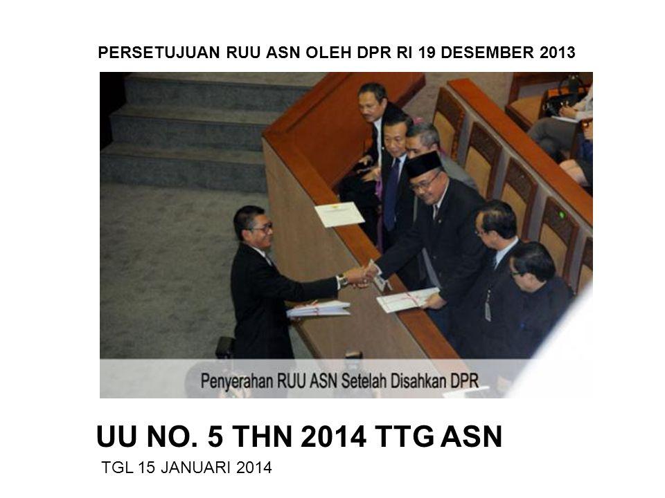 PERSETUJUAN RUU ASN OLEH DPR RI 19 DESEMBER 2013