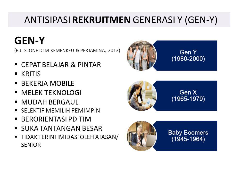 GEN-Y ANTISIPASI REKRUITMEN GENERASI Y (GEN-Y) CEPAT BELAJAR & PINTAR
