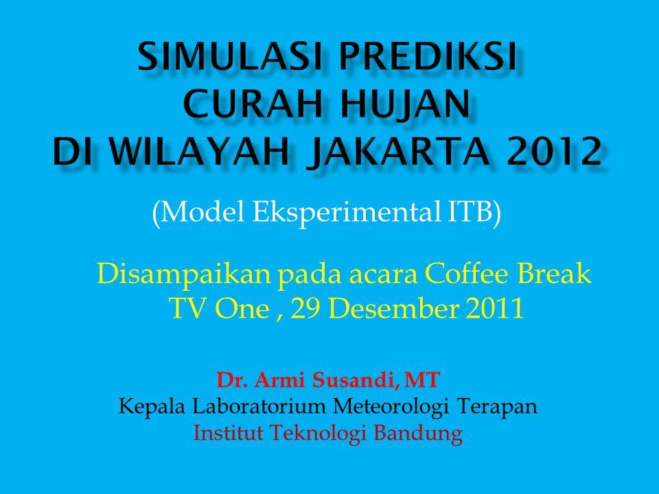 Simulasi Prediksi Curah Hujan di Wilayah Jakarta 2012
