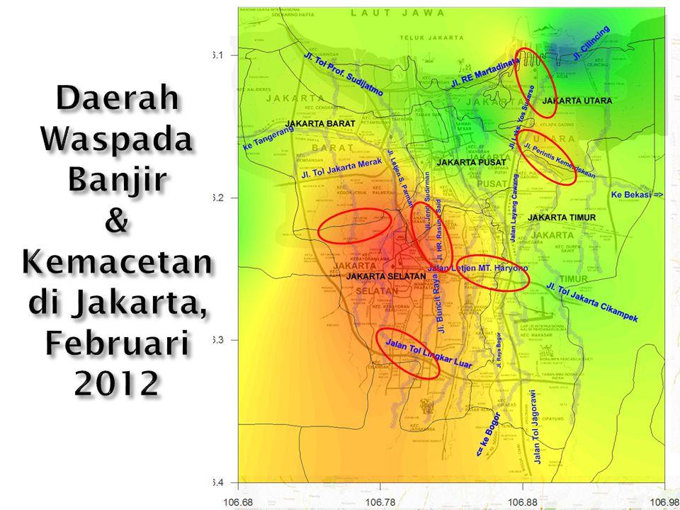 Daerah Waspada Banjir & Kemacetan di Jakarta, Februari 2012