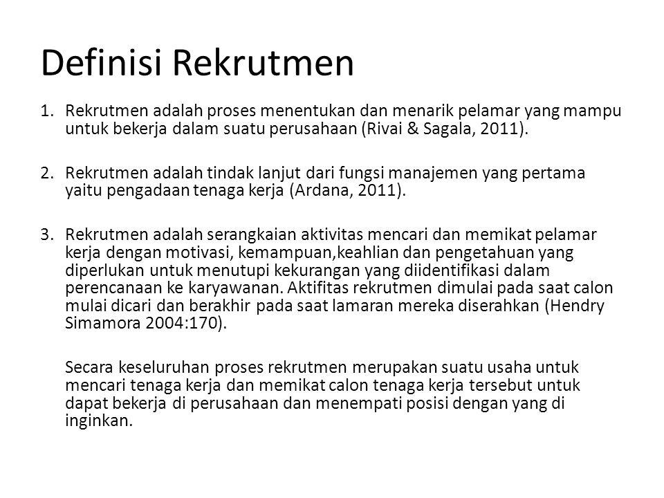 Definisi Rekrutmen