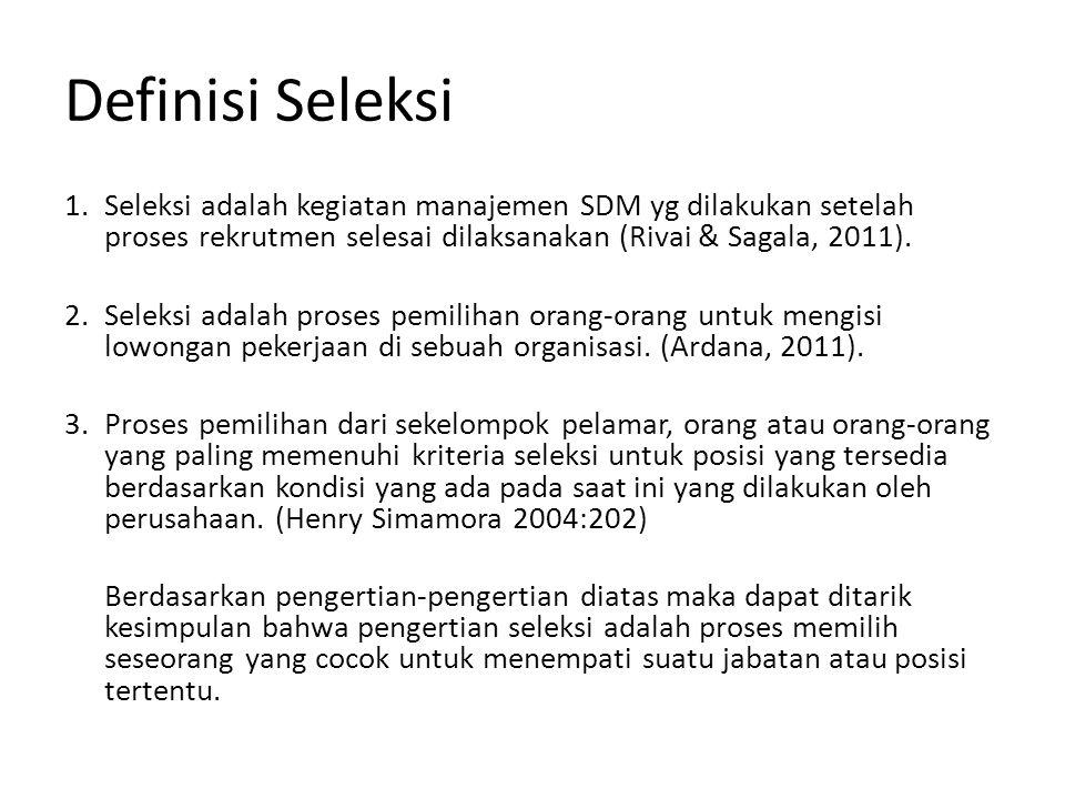 Definisi Seleksi