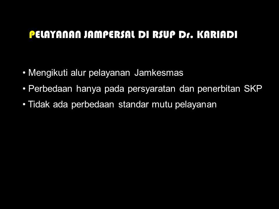 PELAYANAN JAMPERSAL DI RSUP Dr. KARIADI