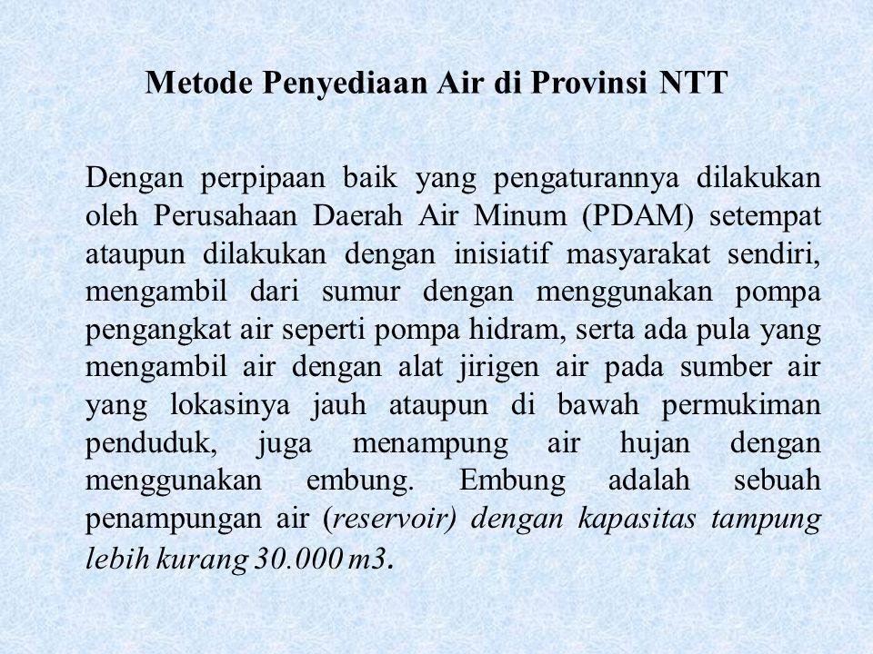 Metode Penyediaan Air di Provinsi NTT