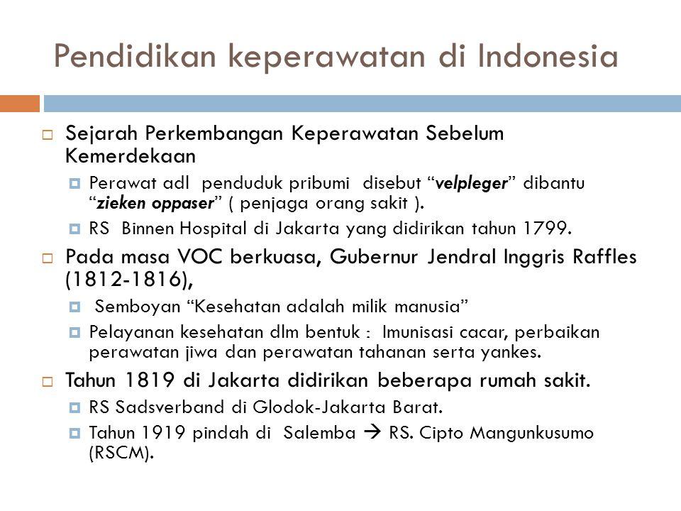 Pendidikan keperawatan di Indonesia