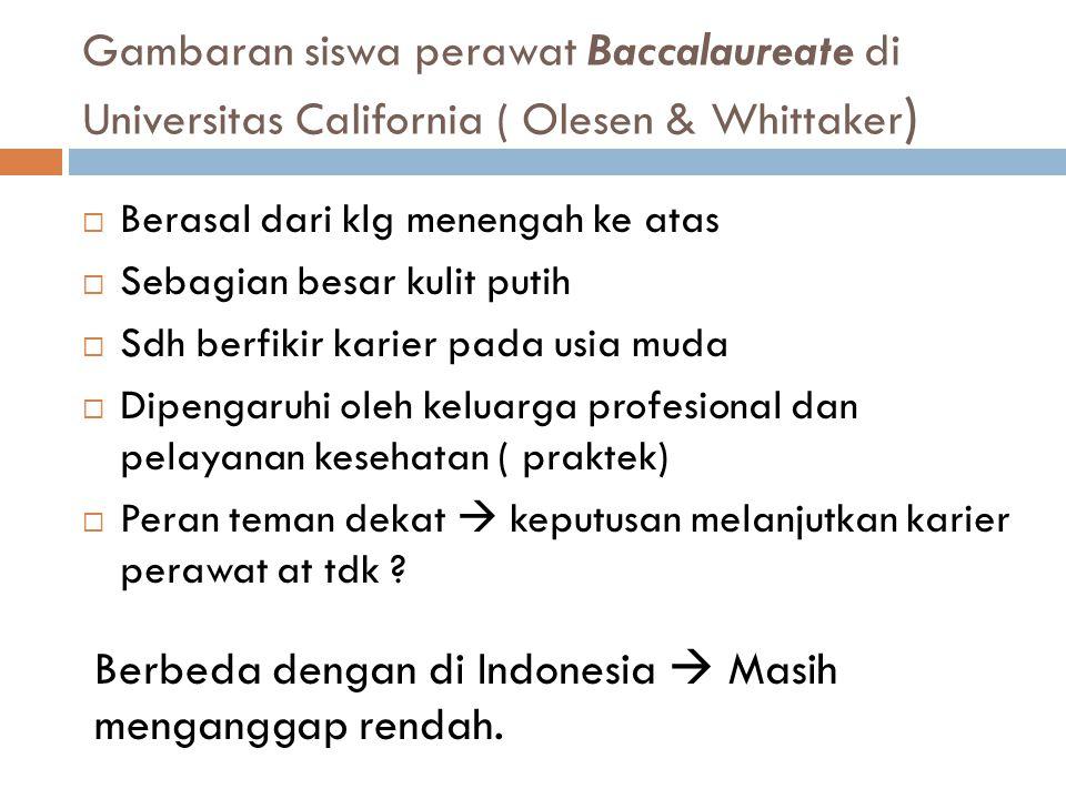 Berbeda dengan di Indonesia  Masih menganggap rendah.
