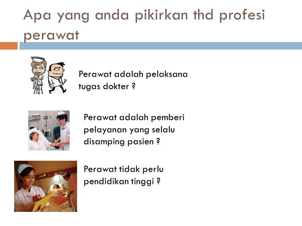 Apa yang anda pikirkan thd profesi perawat