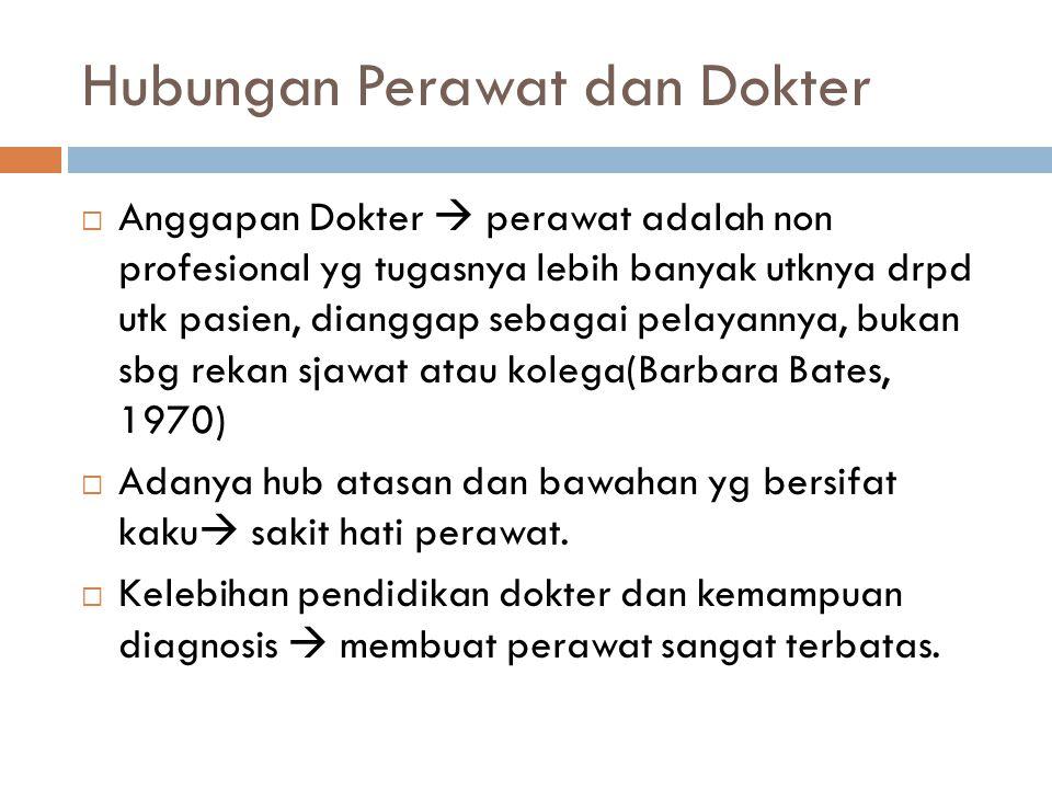 Hubungan Perawat dan Dokter