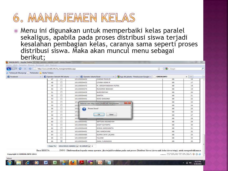 6. Manajemen Kelas