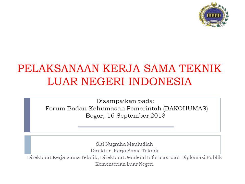 PELAKSANAAN KERJA SAMA TEKNIK LUAR NEGERI INDONESIA