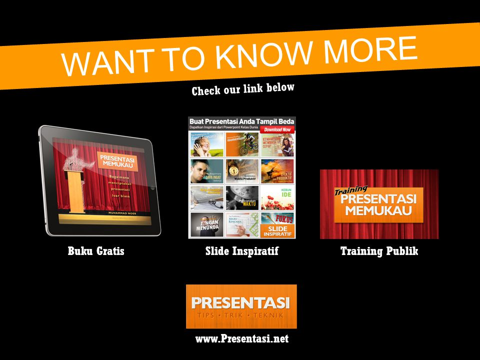 WANT TO KNOW MORE Check our link below Buku Gratis Slide Inspiratif