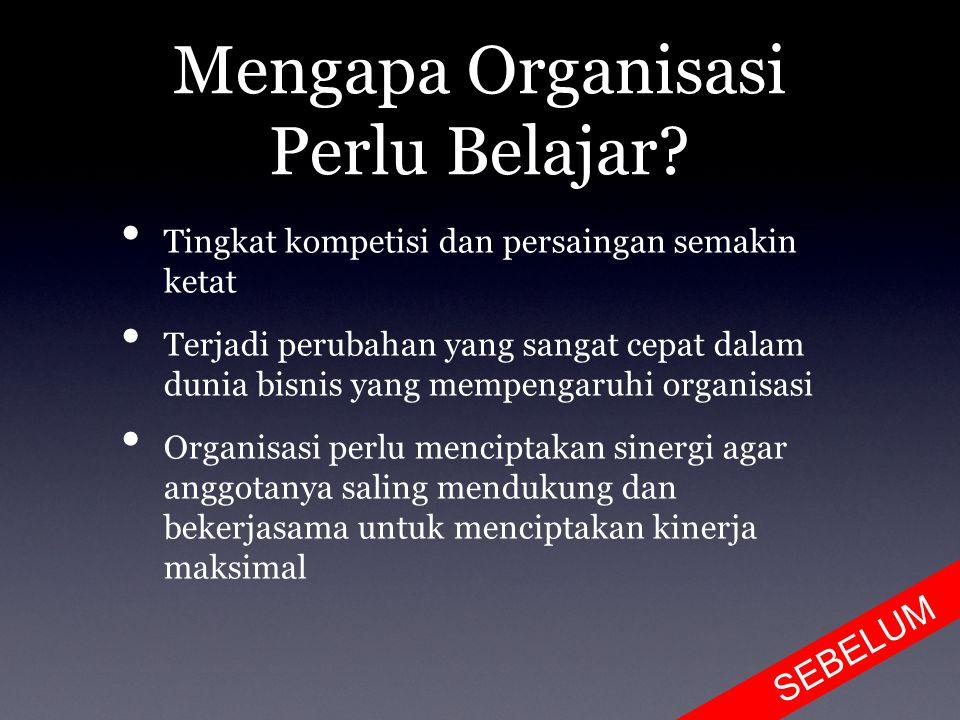 Mengapa Organisasi Perlu Belajar