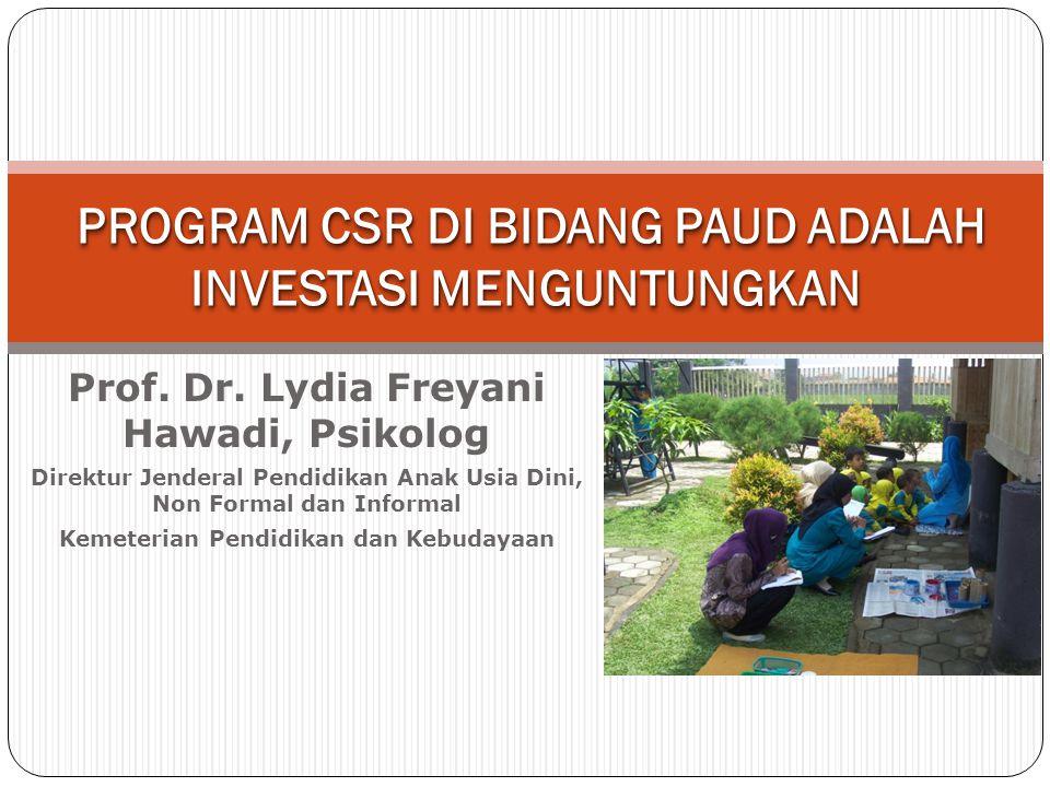 PROGRAM CSR DI BIDANG PAUD ADALAH INVESTASI MENGUNTUNGKAN