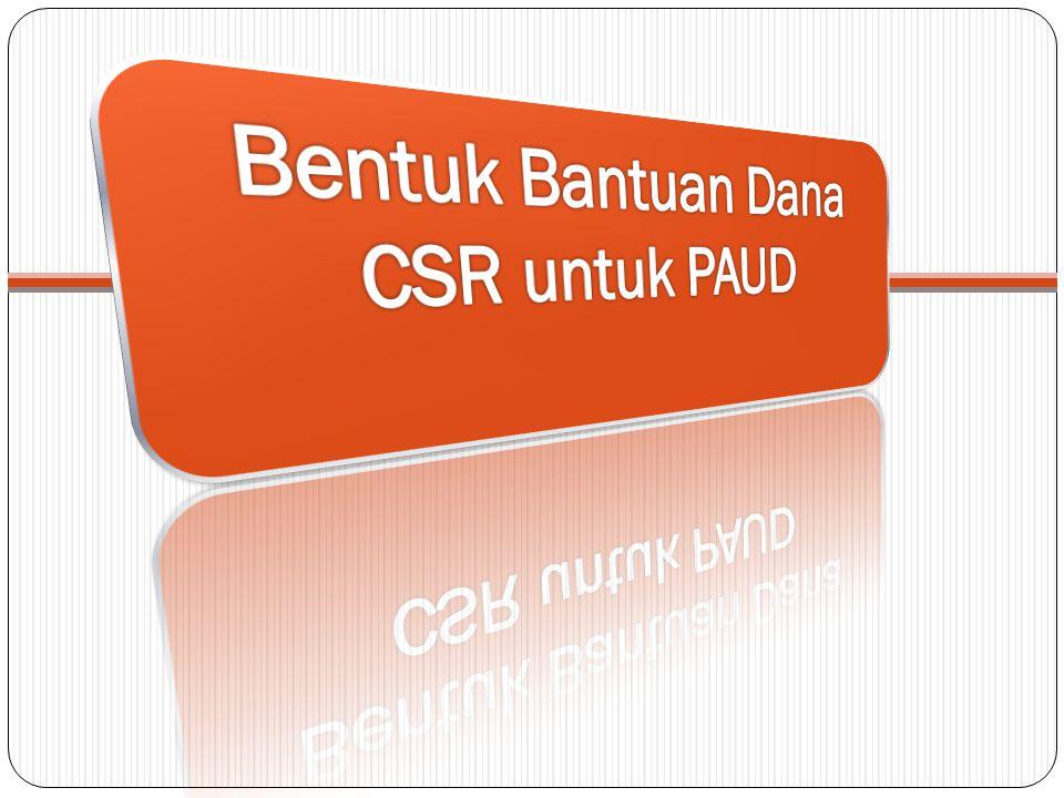 Bentuk Bantuan Dana CSR untuk PAUD