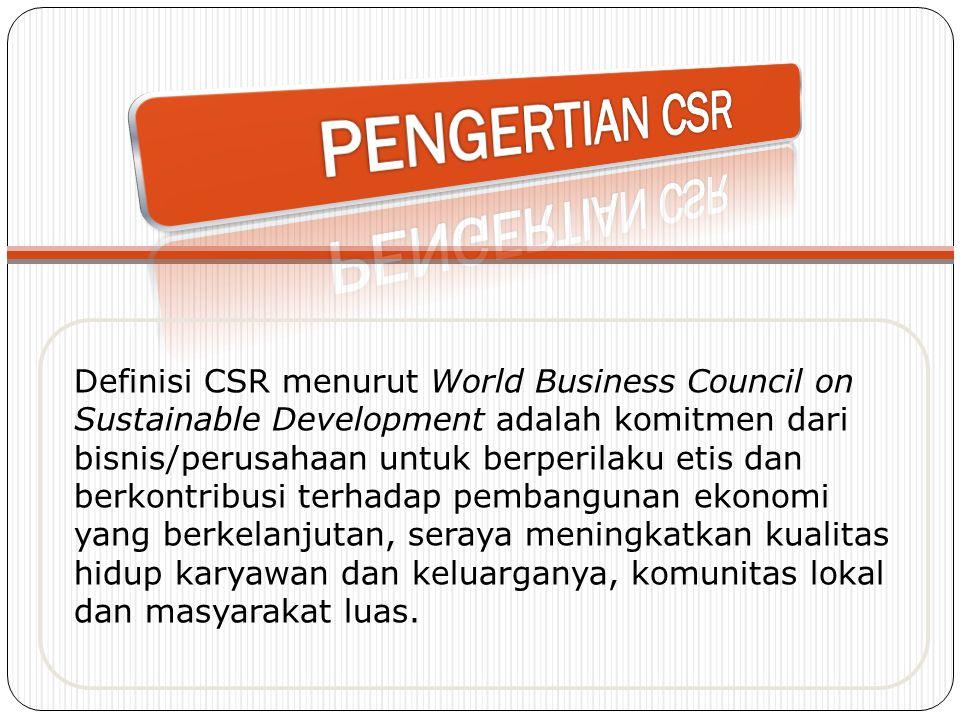 PENGERTIAN CSR